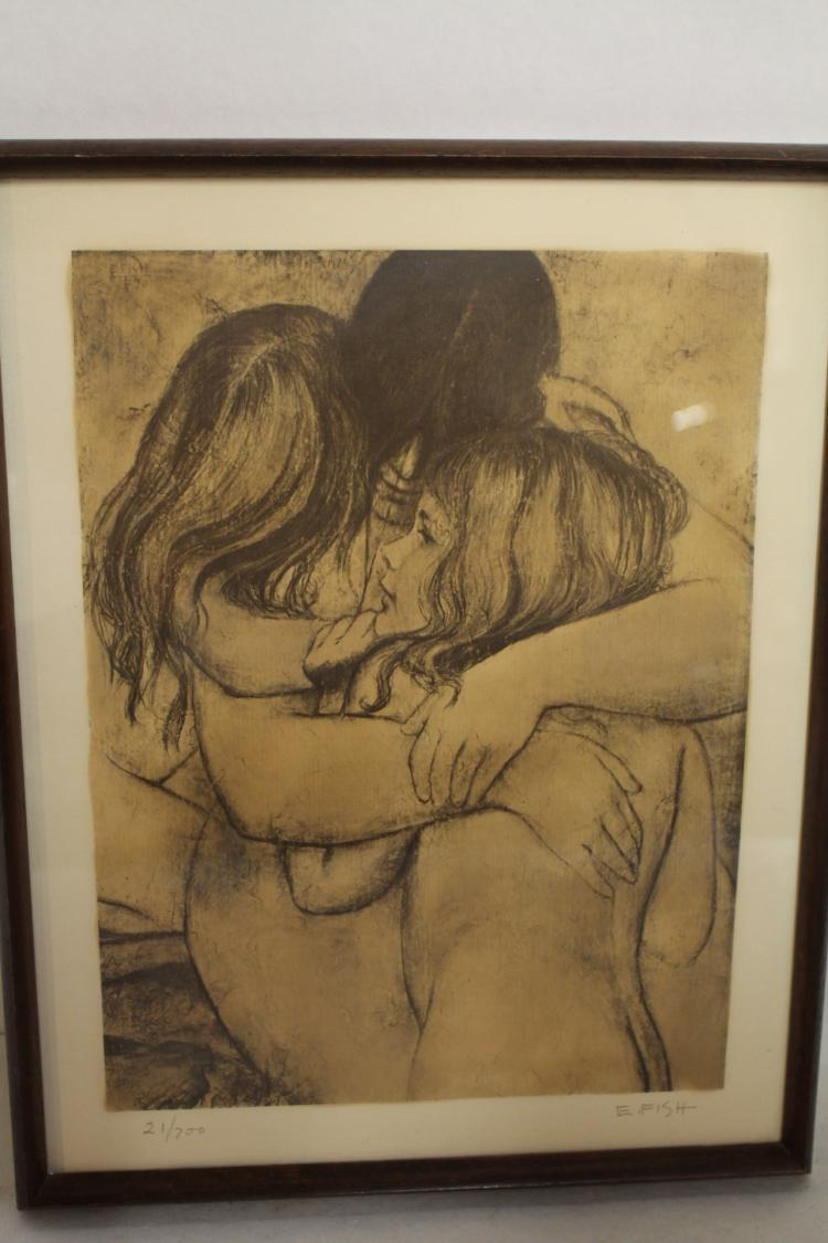 E. Fish Nude Lithograph, signed and numbered #21/700