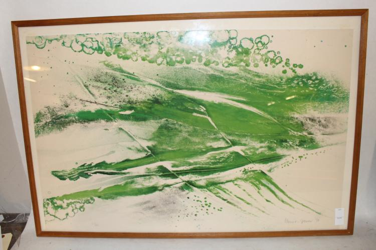 Albert Christ-Janer 1970 abstract, untitled Lithograph signed and numbered #67/100