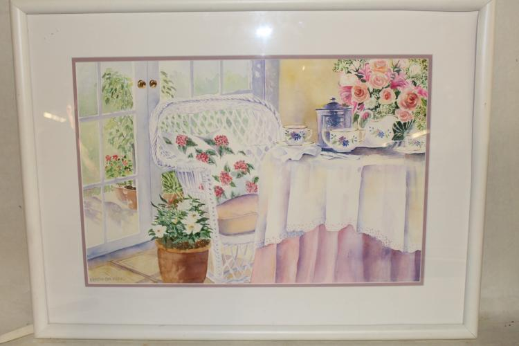 Kristin Stashenko Watercolor, Afternoon Tea
