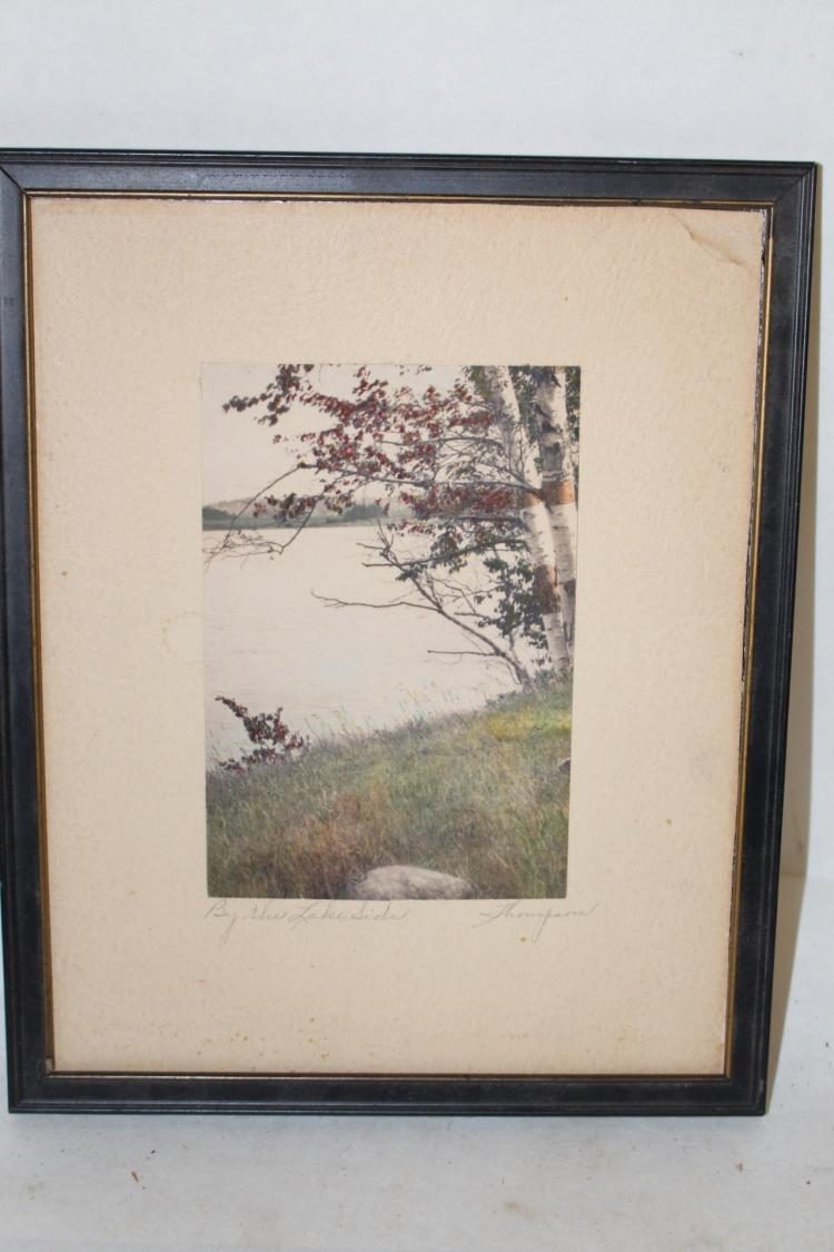 Thompson vintage hand colored photo,
