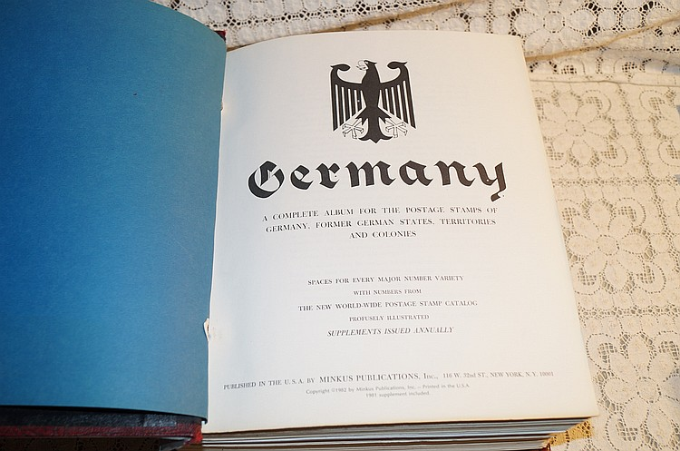 Minkus Germany stamp book approx  4,712 different stamps and