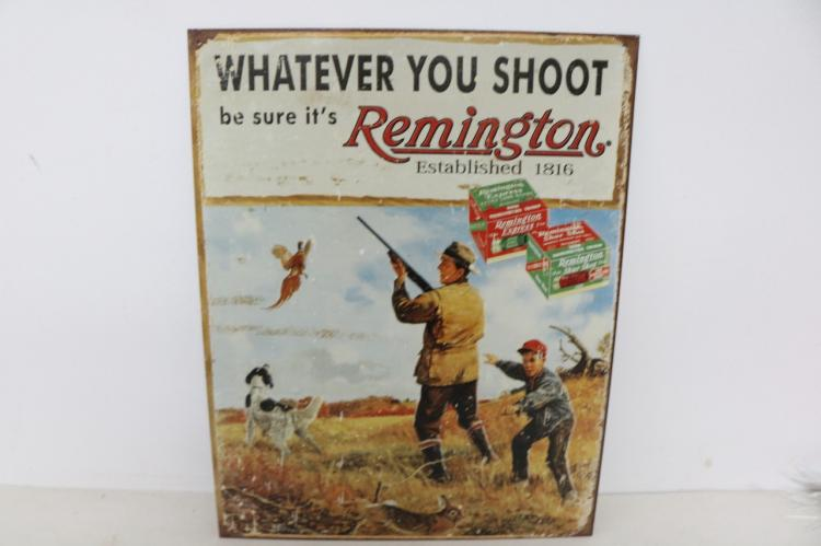 Remington Advertising sign