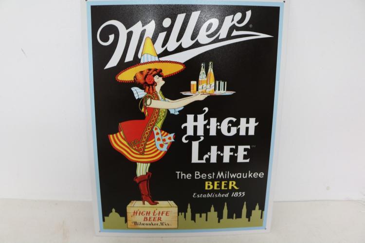 Miller Server, Tin Repro Sign