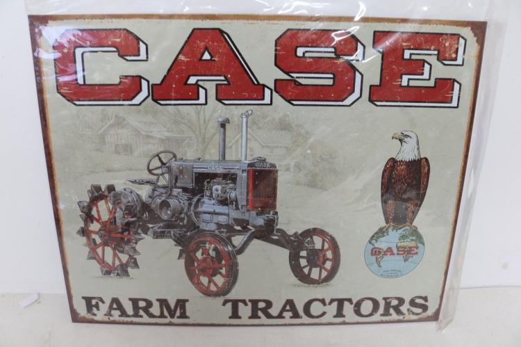 Case Tractor CC High, Tin Repro Sign