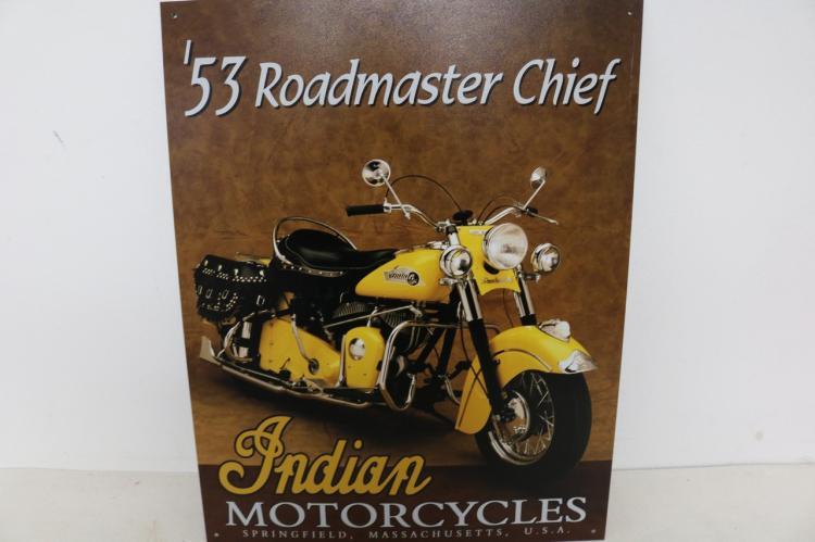Indian Roadmaster, Tin Repro Sign