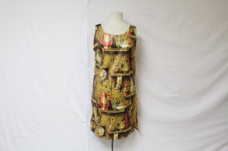 Vintage 1960s Novelty Print Shift Dress