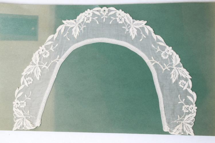 Antique Embroidered Cotton Collar