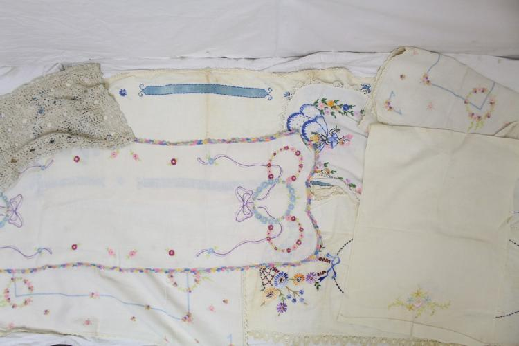 Vintage Lot of Embroidered Table Runners