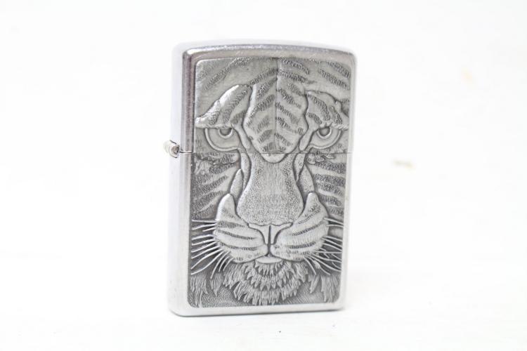 Vintage Tiger Zippo Lighter