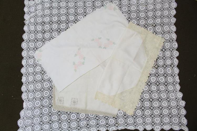 Vintage Lot of Card Table Tablecloths
