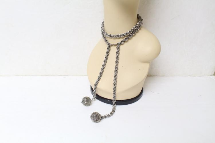 Vintage 1970s Silver Chain Link Necklace