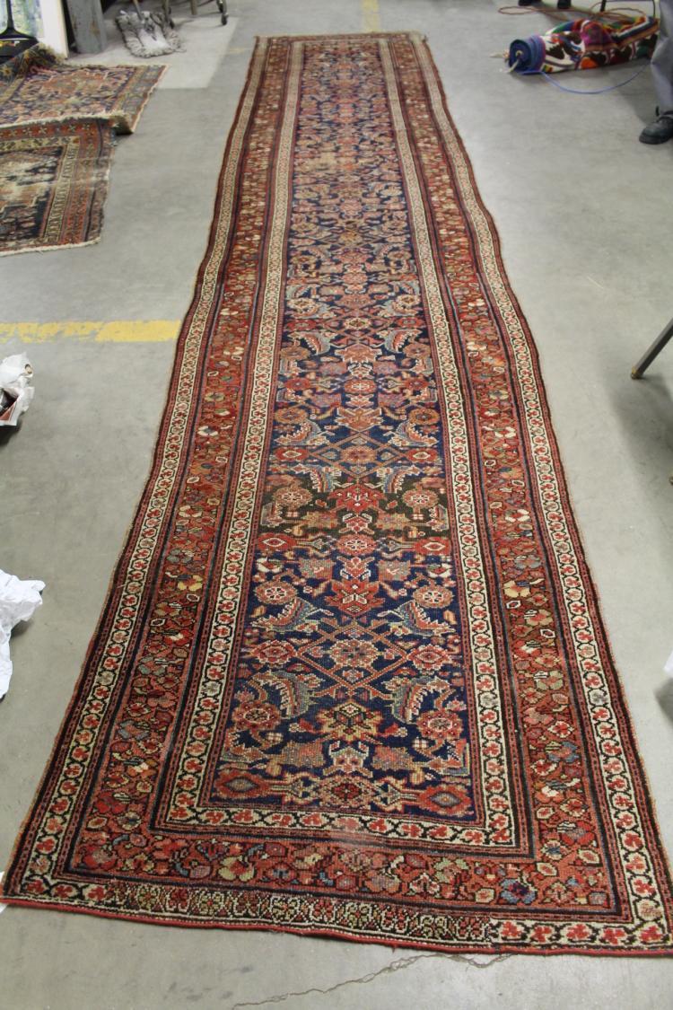 Antique Hamadan Carpet Runner 16 6 Ft X 3 4 Ft