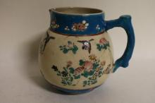 Asian Porcelain Hand Painted under glaze Pitcher