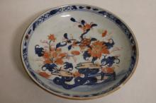 Shallow Asian Bowl, floral Motif