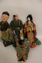 lot of 4 Antique Asian Dolls