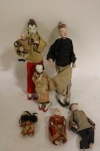 lot of 7 Antique Asian Dolls