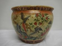 Hand Painted Asian Jardinière