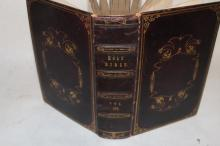 Antique Pictorial Bible, vol III with hundreds of wood-cut Prints. Belonging to Mary Elizabeth Barton in 1845