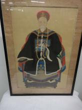 Large Antique Asian Painting on Silk
