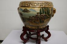 Asian Jardinière with mahogany stand
