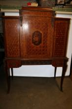 Antique French Inlaid Marquetry Desk, Louis XV