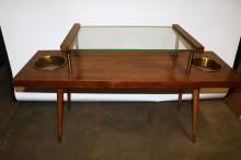 Mid-Century Modern Glass top Coffee Table