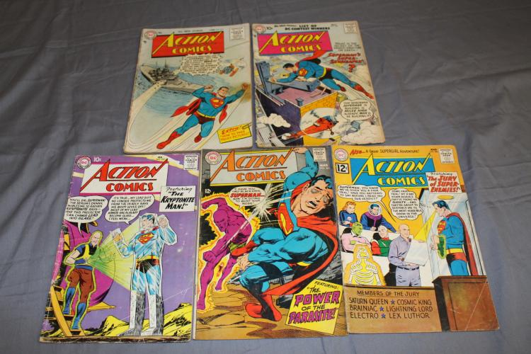 Lot of 5 Golden age Superman Action Comics