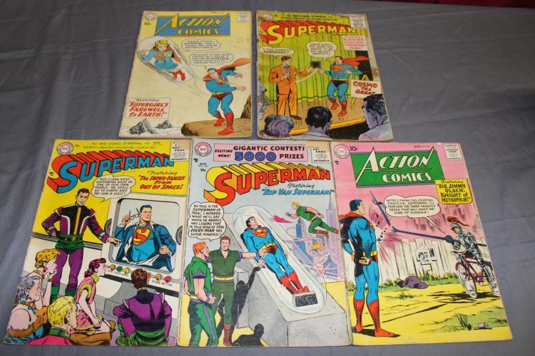 Lot of Superman Comics 1956 & up, Golden age
