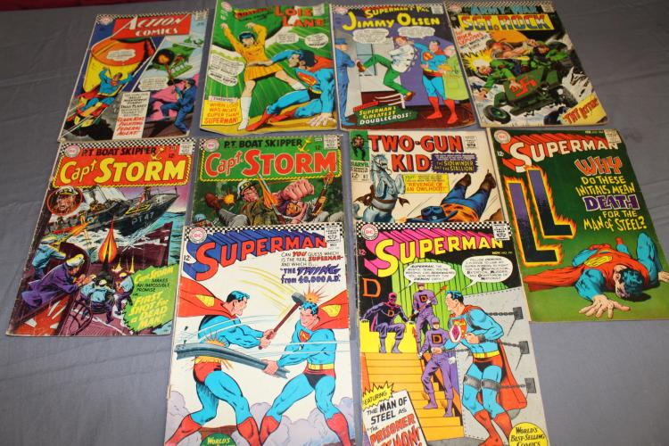 Great Silver age lot of comics, Superman, Action, Capt. Storm, Sgt Rock