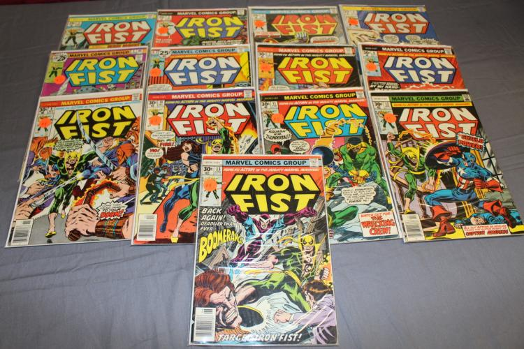nice lot of Marvel Iron Fist comics 1-13
