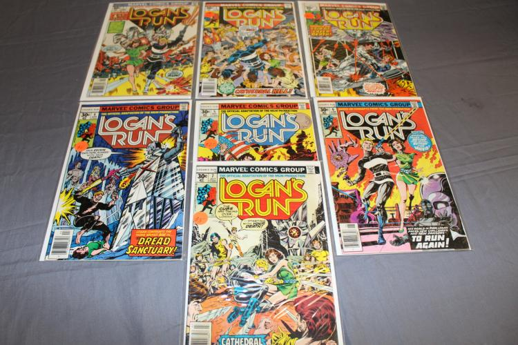 Logan's Run Comics, #1-7 including Thano's #6