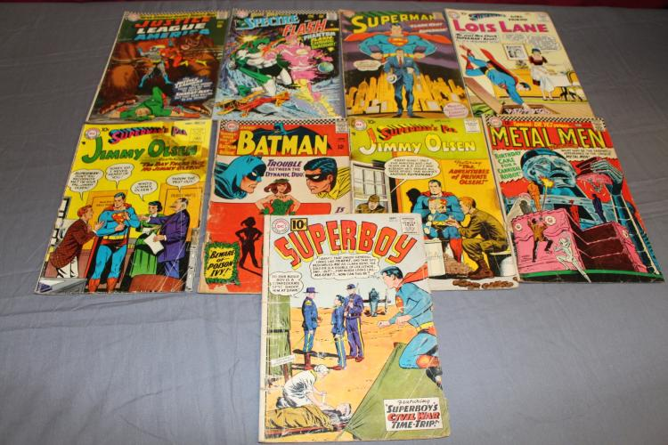 9 comic lot variety of DC Golden & Silver age