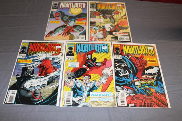 Marvel Night Watch #1-5 with Spiderman