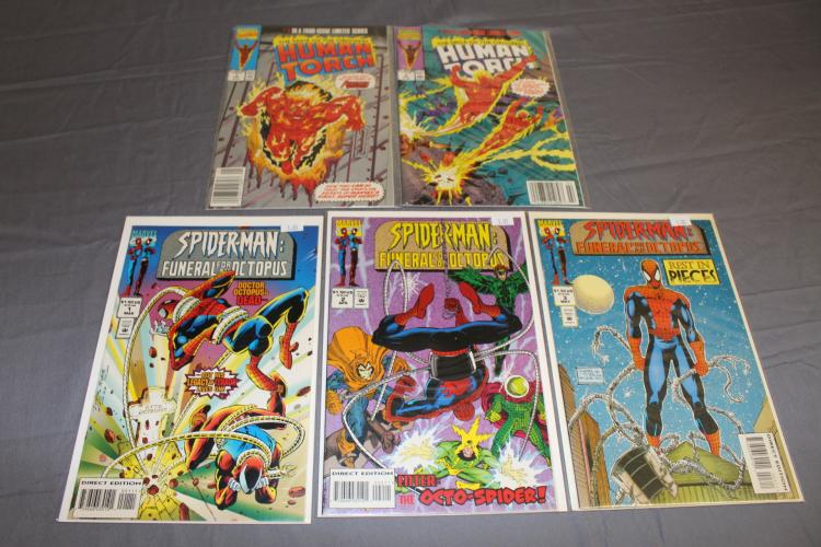 Human Torch #1 & 2, Spiderman Octopus #1-3