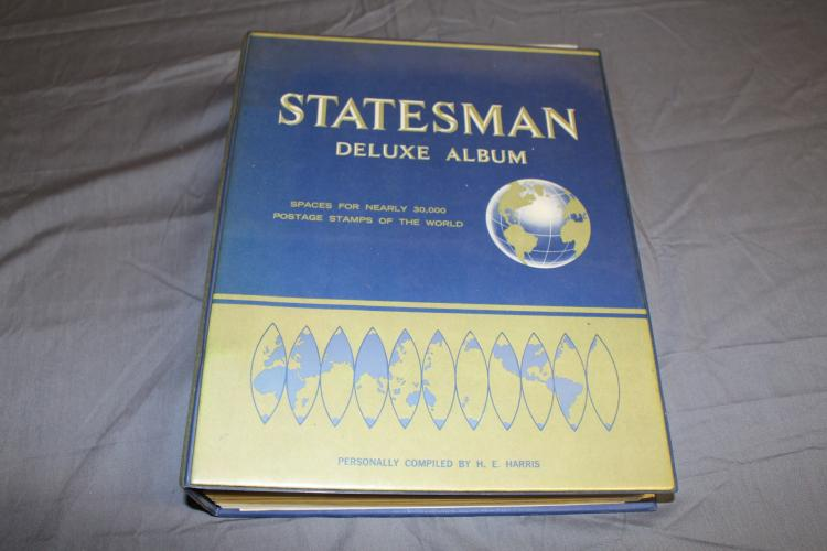 Statesman Stamp Album, many 100's of unused and used stamps