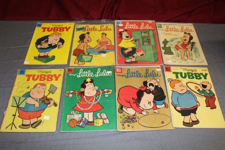 Little LuLu and Tubby, great early lot of 8 comics