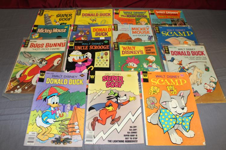 lot of 15, 1960's & up comics, Disney, Uncle Scrooge, Super Goofy, Show Case, Donald Duck