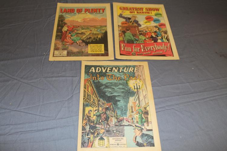 3 General Electric give away comics