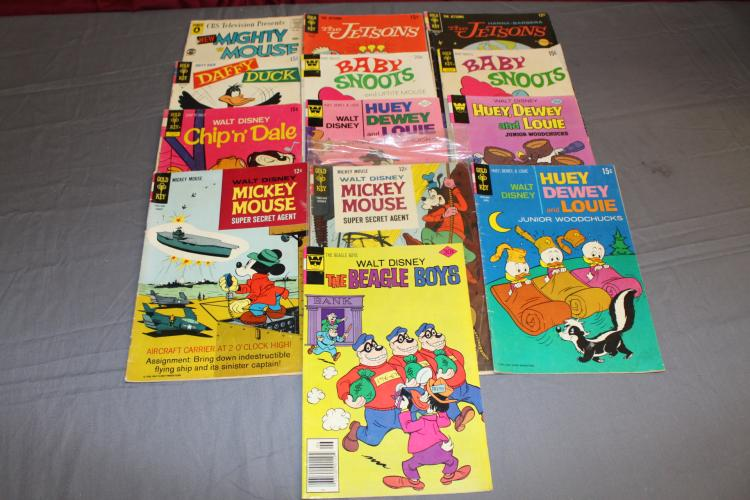 lot of 13 Golden and Silver age with Jetsons & Disney