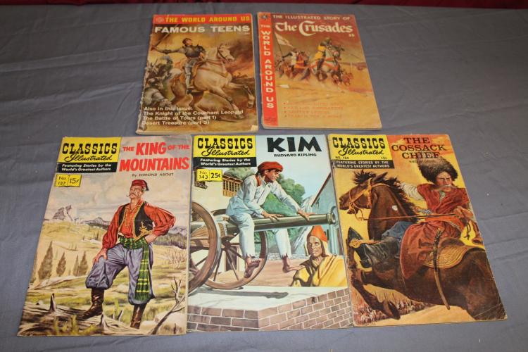 lot of 5 Classic Illustrated comics