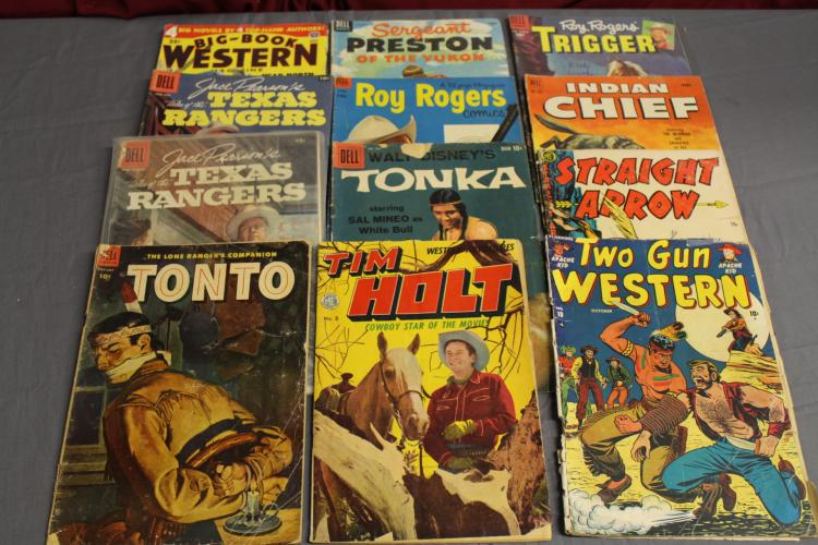 Great Golden age Comics & 1 Pulp 1940's & up, Roy Rogers, Trigger, Indian Chief