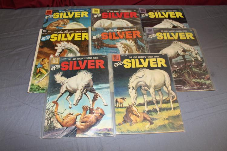 Lone Ranger, lot of 8 comics, Hi Yo Silver