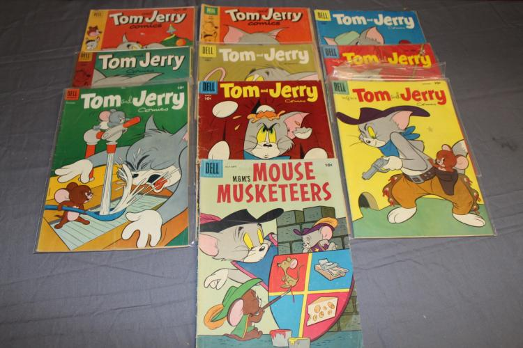 early lot of 10 Tom & Jerry comics, golden age