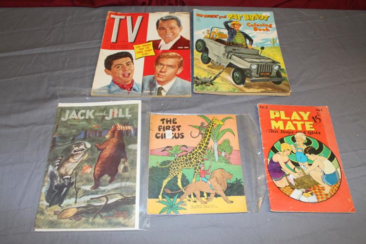 Misc. lot of 5 items, 1930's & up