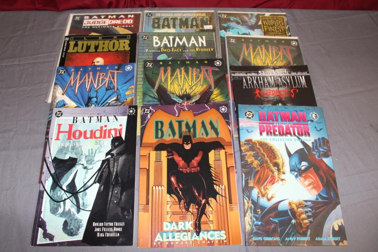 Awesome lot of 12 Batman TPB's no duplicates, near mint
