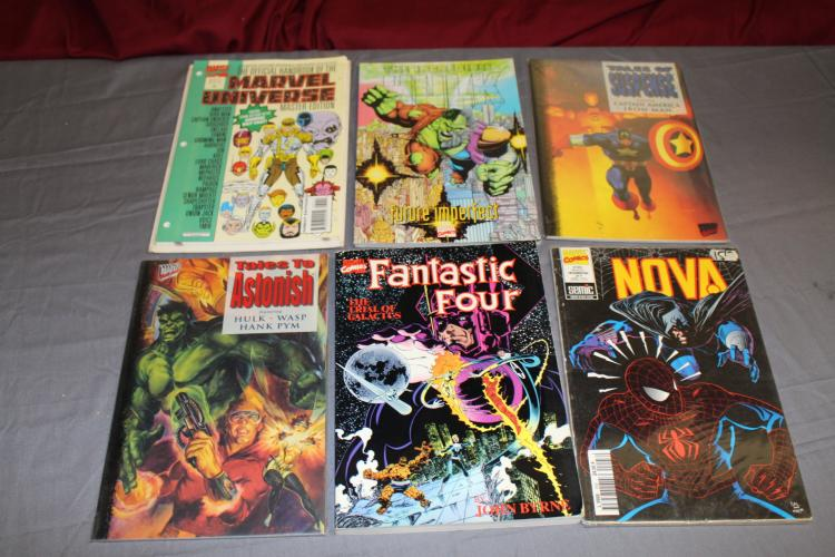 Lot of Marvel, 6 TPB's, Fantastic Four & others