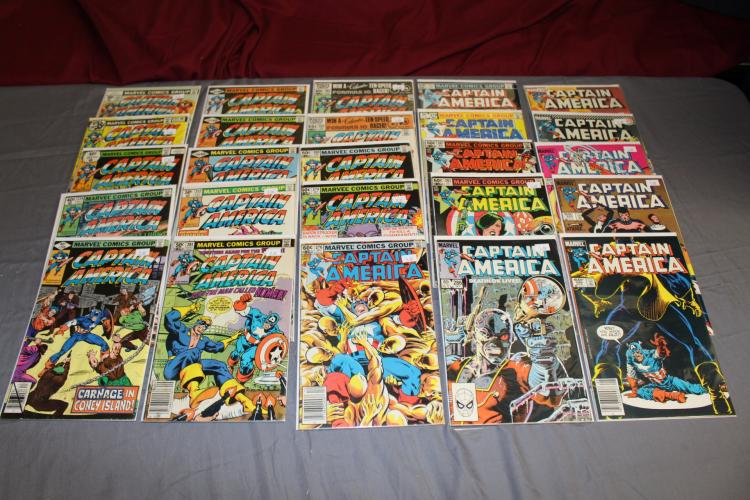 lot of 25 Captain America comics, no duplicates