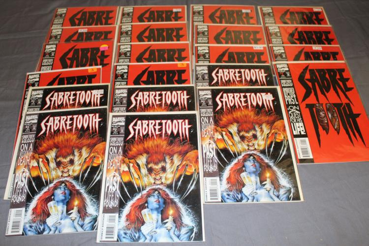 near mint to mint lot of Marvel Sabre Tooth comics