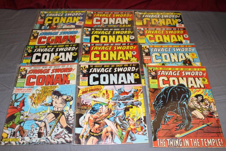 Cool lot of British Conan comics from 1970's, nice lot