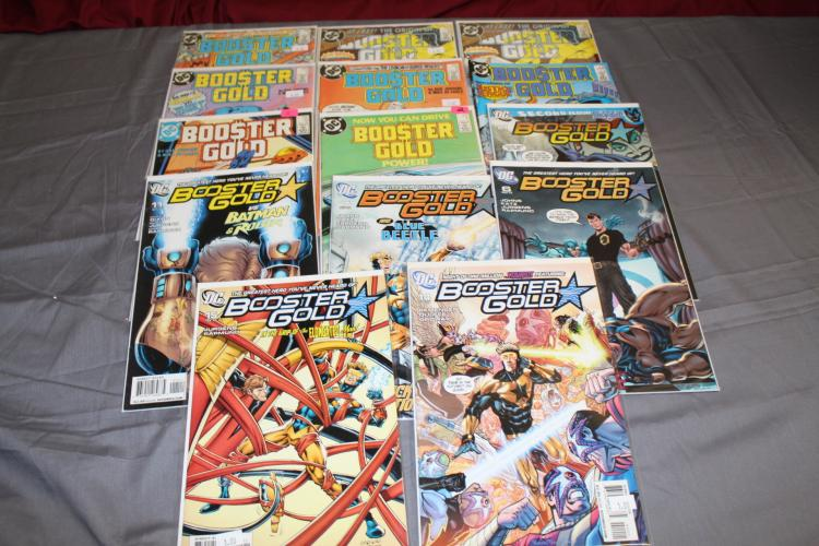 lot of 14 Booster Gold Comics, near mint